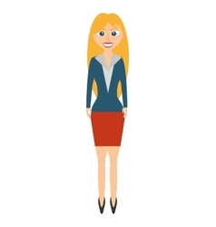 businesswoman avatar elegant isolated icon vector image vector image