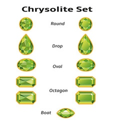Chrysolite Set With Text vector image vector image