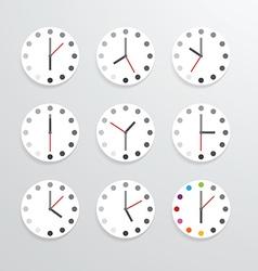 Clock flat icon app vector
