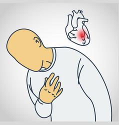Coronary artery disease icon vector