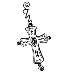 Cross crucifix vector image