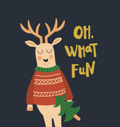deer cheers vector image