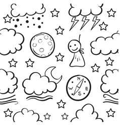 Doodle of weather art vector