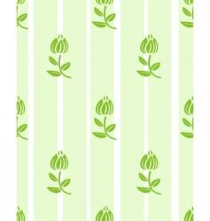 floral light green floral wallpaper vector image vector image