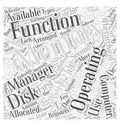 Functions of operating systems word cloud concept vector