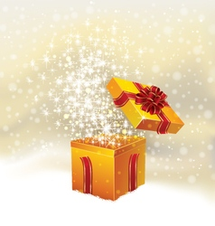 Holiday christmas background with open gift vector