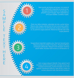 infographics step by step in the form of gears vector image