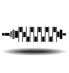 internal combustion engine vector image