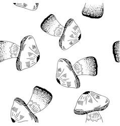 mashroom pattern vector image vector image
