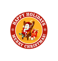 merry christmas icon for holiday greeting vector image