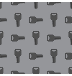 Metallic Seamless Grey Key Pattern vector image vector image