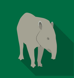 mexican tapir icon in flat style isolated on white vector image vector image