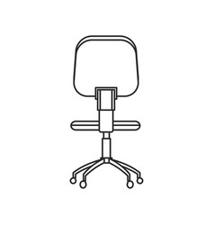 Office chair work image outline vector