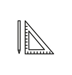 pen ruler icon vector image
