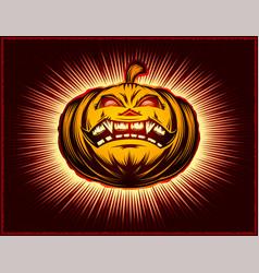 pumpkin smiling halloween harrasment horror vector image vector image