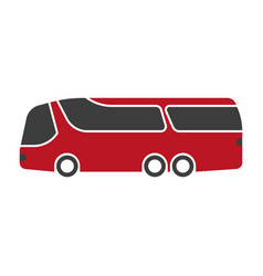 red shuttle bus with black windshield art isolated vector image vector image