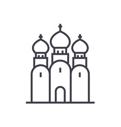 russian orthodox church line icon sign vector image