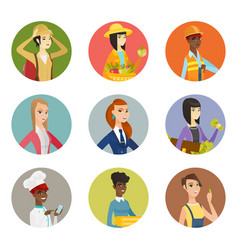 Set of characters of different professions vector