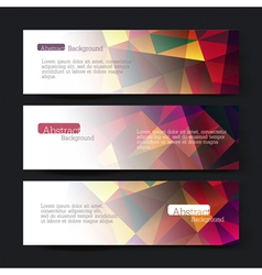 set of three colorful triangles banners vector image vector image