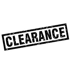 square grunge black clearance stamp vector image