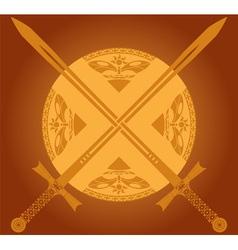 sunny swords vector image vector image