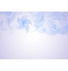 Transparent floral pattern background vector image vector image