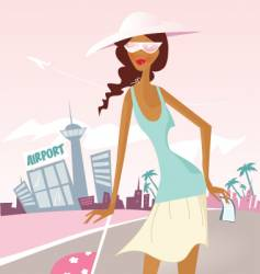 vacation girl vector image