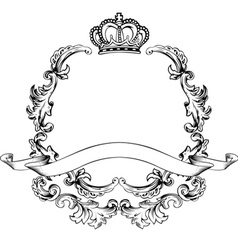 Vintage aluminum frame vector