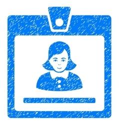 Woman badge grainy texture icon vector