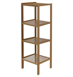 Wooden shelf vector