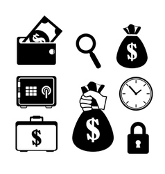 Collection save the money icon vector