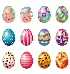 Painted easter eggs vector