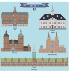 Famous places in denmark vector
