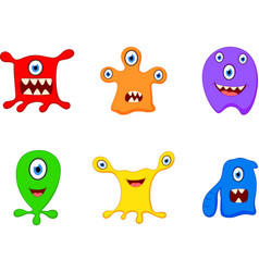 cute monster cartoon vector image