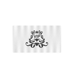 elegant business card with victorian ornament and vector image