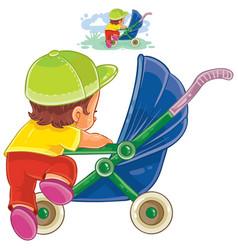 clip art of little child vector image