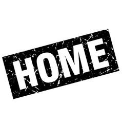 Square grunge black home stamp vector