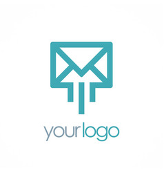 Mail message logo vector