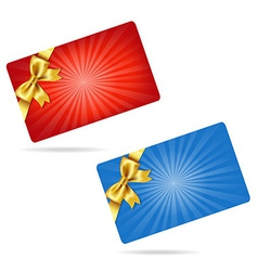 Gift Cards With Gift Bows vector image