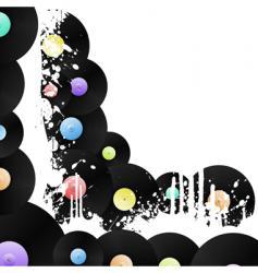 Vinyl grungy corner background vector