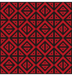 Geometric abstract black and red pattern seamless vector