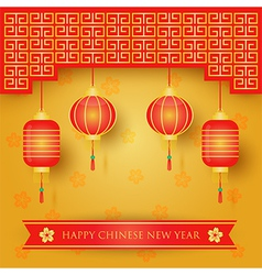 Chinese new year decoration background vector