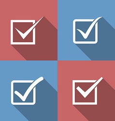 Set of check mark check box icons vector