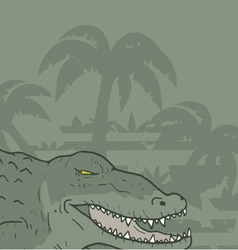 Wild crocodile vector