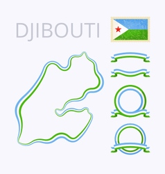 Colors of djibouti vector