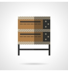 Bakery oven flat color design icon vector
