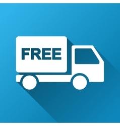 Free delivery gradient square icon vector