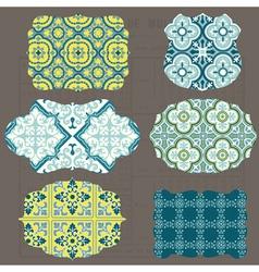 Vintage tiles design elements for scrapbook vector