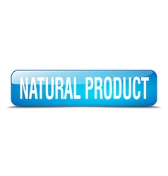 Natural product blue square 3d realistic isolated vector