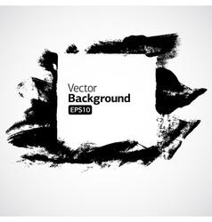 ink grunge hand drawn frame vector image